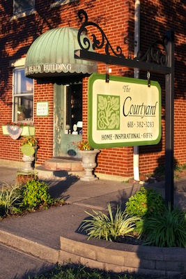 The Courtyard in Carmi operates from a restored historic residence on Main Street, selling gifts and home furnishings.
