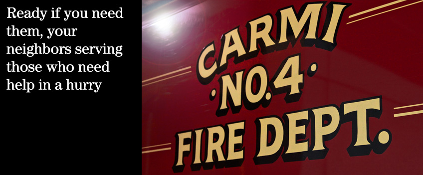 For almost 135 years, the volunteers of the Carmi Fire Department have been answering the bell whenever their neighbors call post image