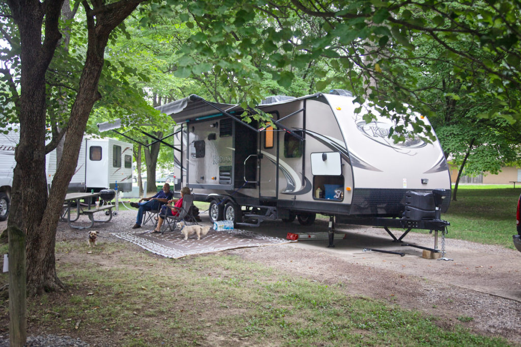 A campground  with over 100 acres to explore – southern Illinois' Burrell Woods Bicentennial Park